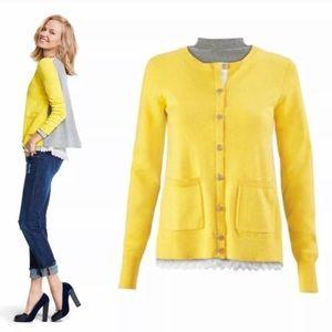 CAbi Yellow Belle Cardigan